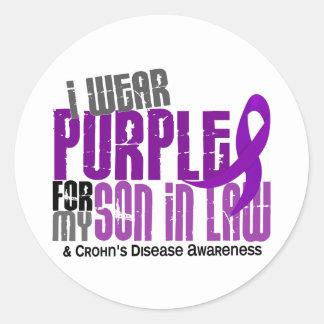 I Wear Purple For My Son-In-Law 6 Crohn's Disease Classic Round Sticker