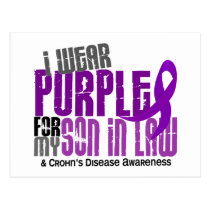 I Wear Purple For My Son-In-Law 6 Crohn's Disease Postcard