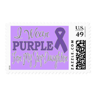 I Wear Purple For My Step-Daughter (Purple Ribbon) Stamps