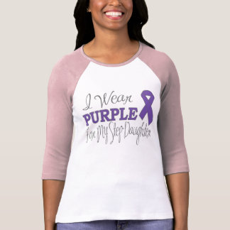 I Wear Purple For My Step-Daughter (Purple Ribbon) T-Shirt