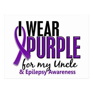 I Wear Purple For My Uncle 10 Epilepsy Postcard