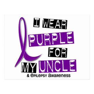 I Wear Purple For My Uncle 37 Epilepsy Postcard