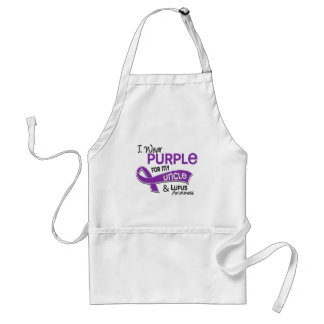 I Wear Purple For My Uncle 42 Lupus Adult Apron