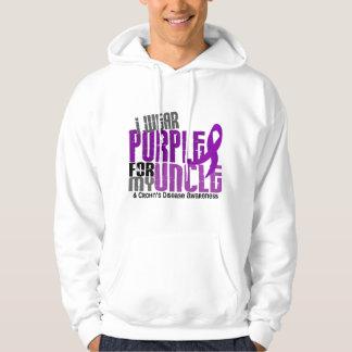 I Wear Purple For My Uncle 6 Crohn's Disease Hoodie