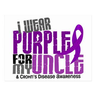 I Wear Purple For My Uncle 6 Crohn's Disease Post Card