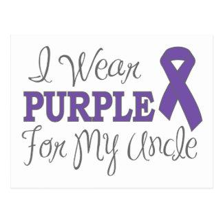 I Wear Purple For My Uncle (Purple Ribbon) Postcard