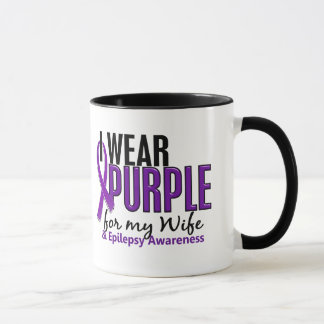 I Wear Purple For My Wife 10 Epilepsy Mug