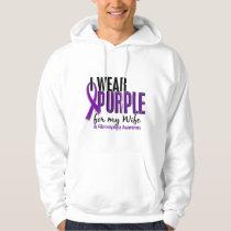 I Wear Purple For My Wife 10 Fibromyalgia Hoodie