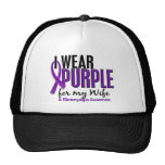 I Wear Purple For My Wife 10 Fibromyalgia Mesh Hat