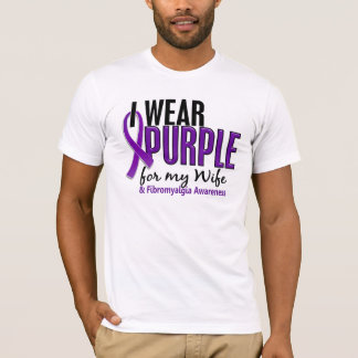 I Wear Purple For My Wife 10 Fibromyalgia T-Shirt