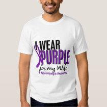 I Wear Purple For My Wife 10 Fibromyalgia Tee Shirt