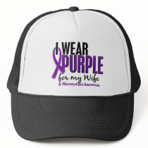 I Wear Purple For My Wife 10 Fibromyalgia Trucker Hat