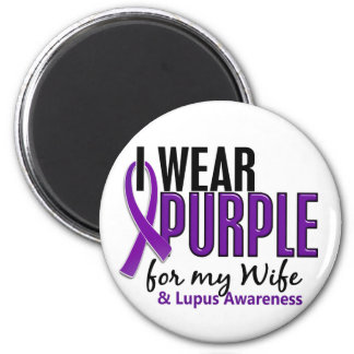 I Wear Purple For My Wife 10 Lupus Magnet