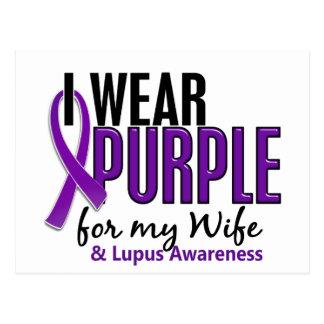 I Wear Purple For My Wife 10 Lupus Postcard
