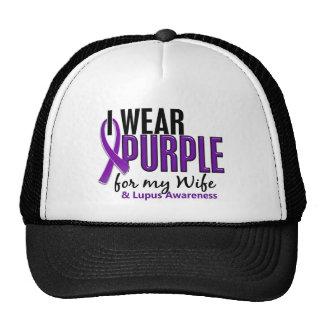 I Wear Purple For My Wife 10 Lupus Trucker Hat