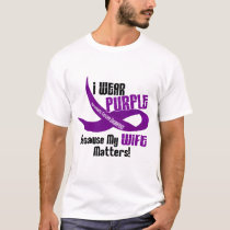 I Wear Purple For My Wife 33 PANCREATIC CANCER T-Shirt