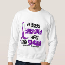 I Wear Purple For My Wife 37 Epilepsy Sweatshirt