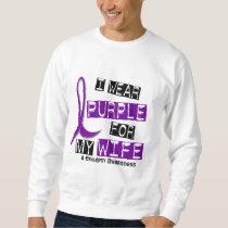 I Wear Purple For My Wife 37 Epilepsy Sweatshirt
