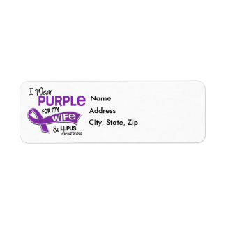 I Wear Purple For My Wife 42 Lupus Label