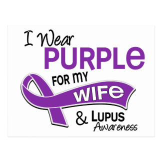 I Wear Purple For My Wife 42 Lupus Postcard
