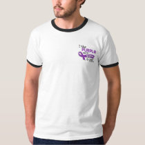 I Wear Purple For My Wife 42 Lupus T-Shirt