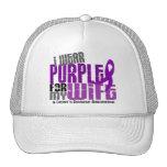 I Wear Purple For My Wife 6 Crohn's Disease Trucker Hats