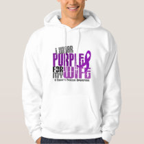 I Wear Purple For My Wife 6 Crohn's Disease Hoodie