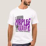 I Wear Purple For My Wife 6 Crohn's Disease T-Shirt