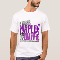 I Wear Purple For My Wife 6 Crohn's Disease T-Shirt