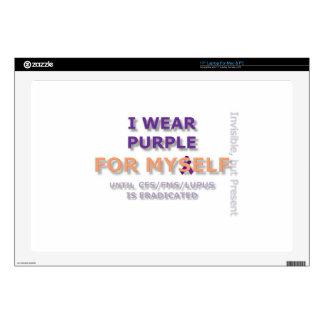 I Wear Purple for Myself laptop skin.