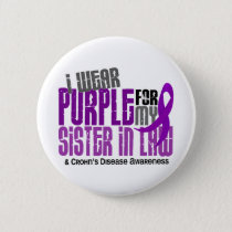 I Wear Purple For Sister-In-Law 6 Crohn's Disease Button