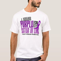 I Wear Purple For Sister-In-Law 6 Crohn's Disease T-Shirt