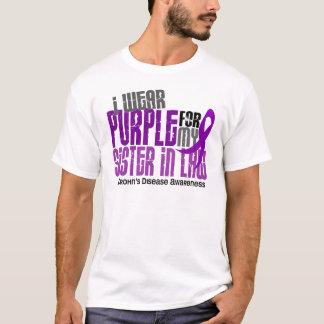 I Wear Purple For Sister-In-Law 6 Crohn's Disease T-Shirt