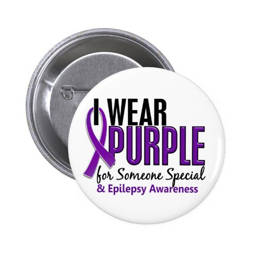 I Wear Purple For Someone Special 10 Epilepsy 2 Inch Round Button