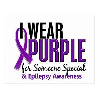 I Wear Purple For Someone Special 10 Epilepsy Postcard