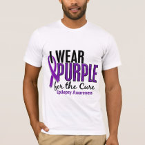 I Wear Purple For The Cure 10 Epilepsy T-Shirt