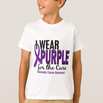 I Wear Purple For The Cure 10 Pancreatic Cancer T-Shirt