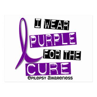 I Wear Purple For The Cure 37 Epilepsy Postcard