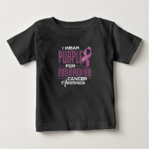 I Wear Purple & Green For Anal Cancer Awareness Baby T-Shirt