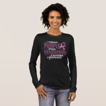 I Wear Purple & Green For Anal Cancer Awareness Long Sleeve T-Shirt