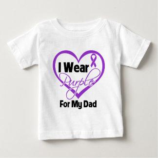 I Wear Purple Heart Ribbon - Dad Tee Shirt