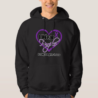 I Wear Purple Heart Ribbon - Daughter-in-Law Hooded Pullover