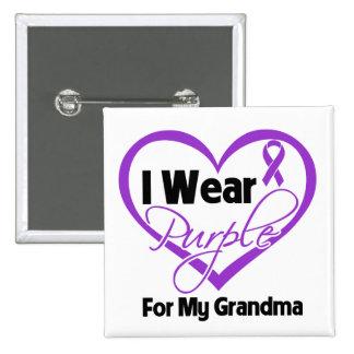 I Wear Purple Heart Ribbon - Grandma Pins