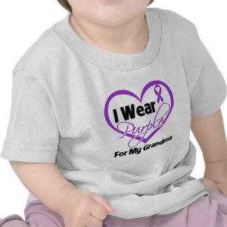I Wear Purple Heart Ribbon - Grandma T Shirts