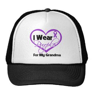 I Wear Purple Heart Ribbon - Grandma Trucker Hat