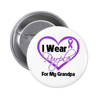 I Wear Purple Heart Ribbon - Grandpa Pins