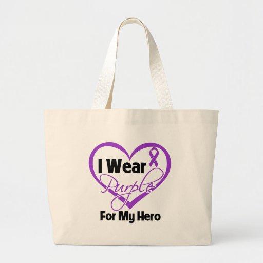 I Wear Purple Heart Ribbon - Hero Bag