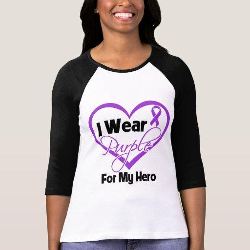 I Wear Purple Heart Ribbon - Hero T-Shirt