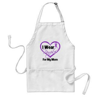 I Wear Purple Heart Ribbon - Mom Apron