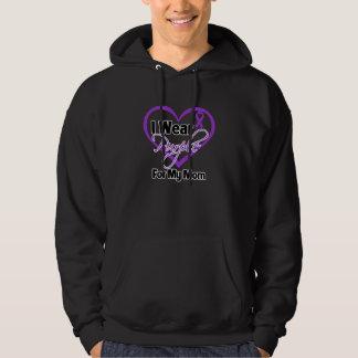 I Wear Purple Heart Ribbon - Mom Hoodie